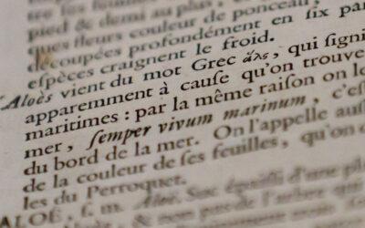 Analyse du discours dans les réécritures du Dictionnaire de Trévoux. Contrat doctoral en sciences du langage 2021-2024
